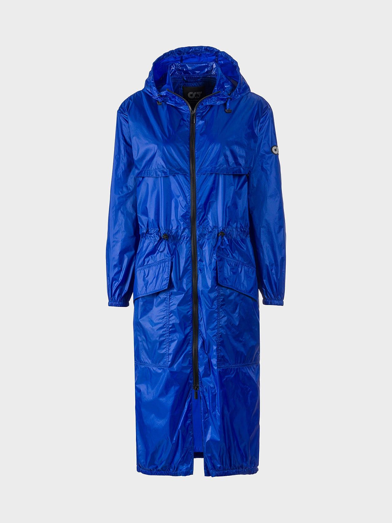 OLONO V2.Y5.01 Packable Windbreaker Coat blue Back Alpha Tauri