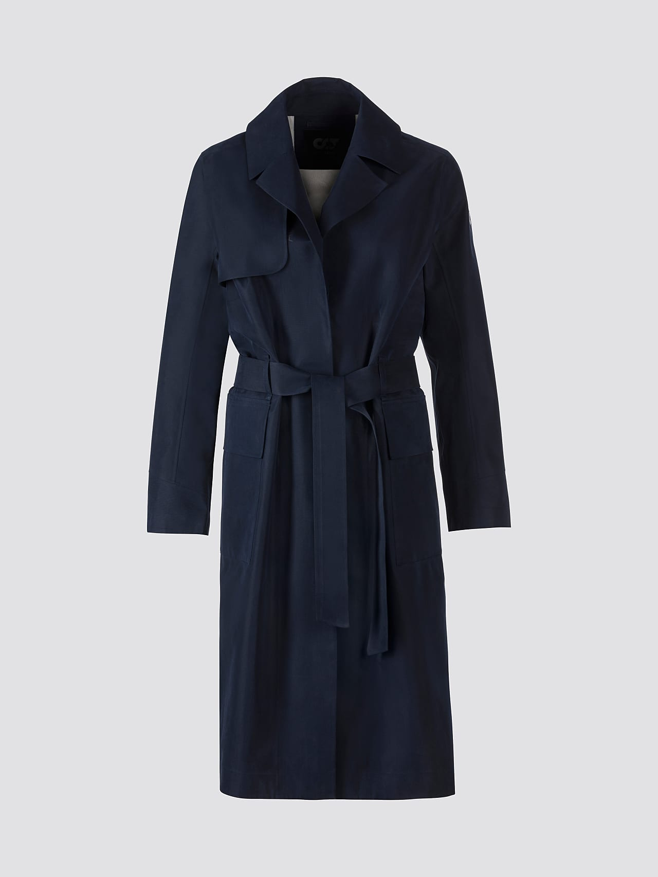 OZENZ V1.Y5.01 Packable Waterproof Trench navy Back Alpha Tauri