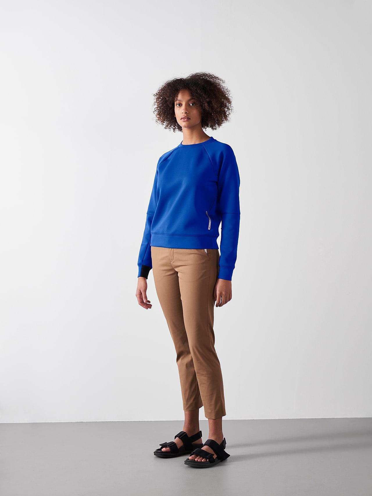 SINOV V1.Y5.01 Crewneck Sweater blue Front Alpha Tauri