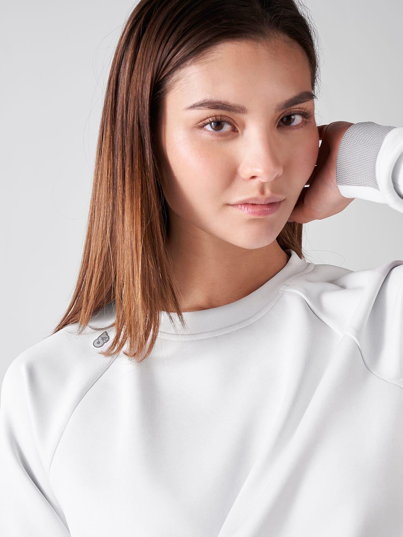 SINOV V1.Y5.01 Crewneck Sweater offwhite Right Alpha Tauri