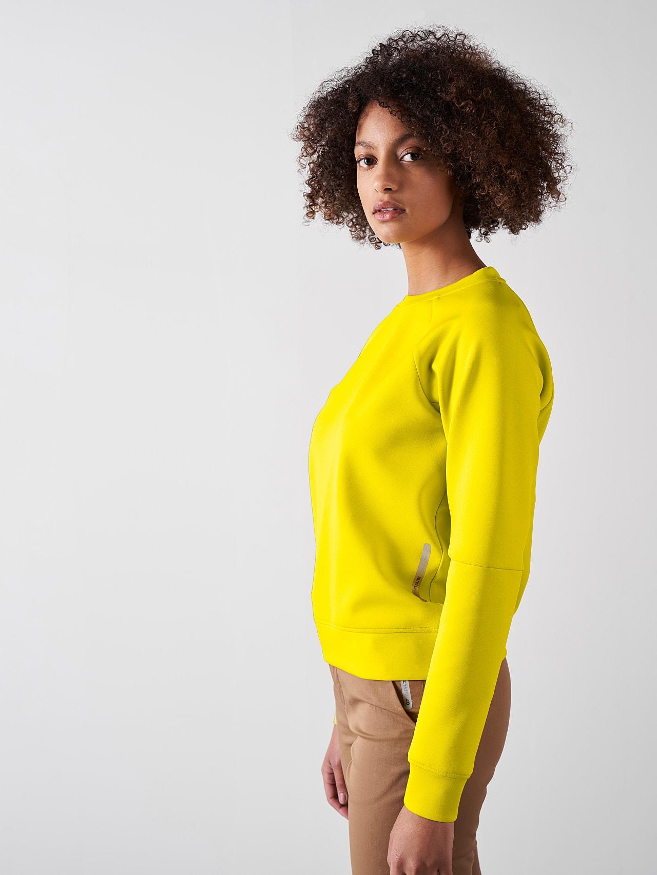 SINOV V1.Y5.01 Crewneck Sweater yellow Model shot Alpha Tauri