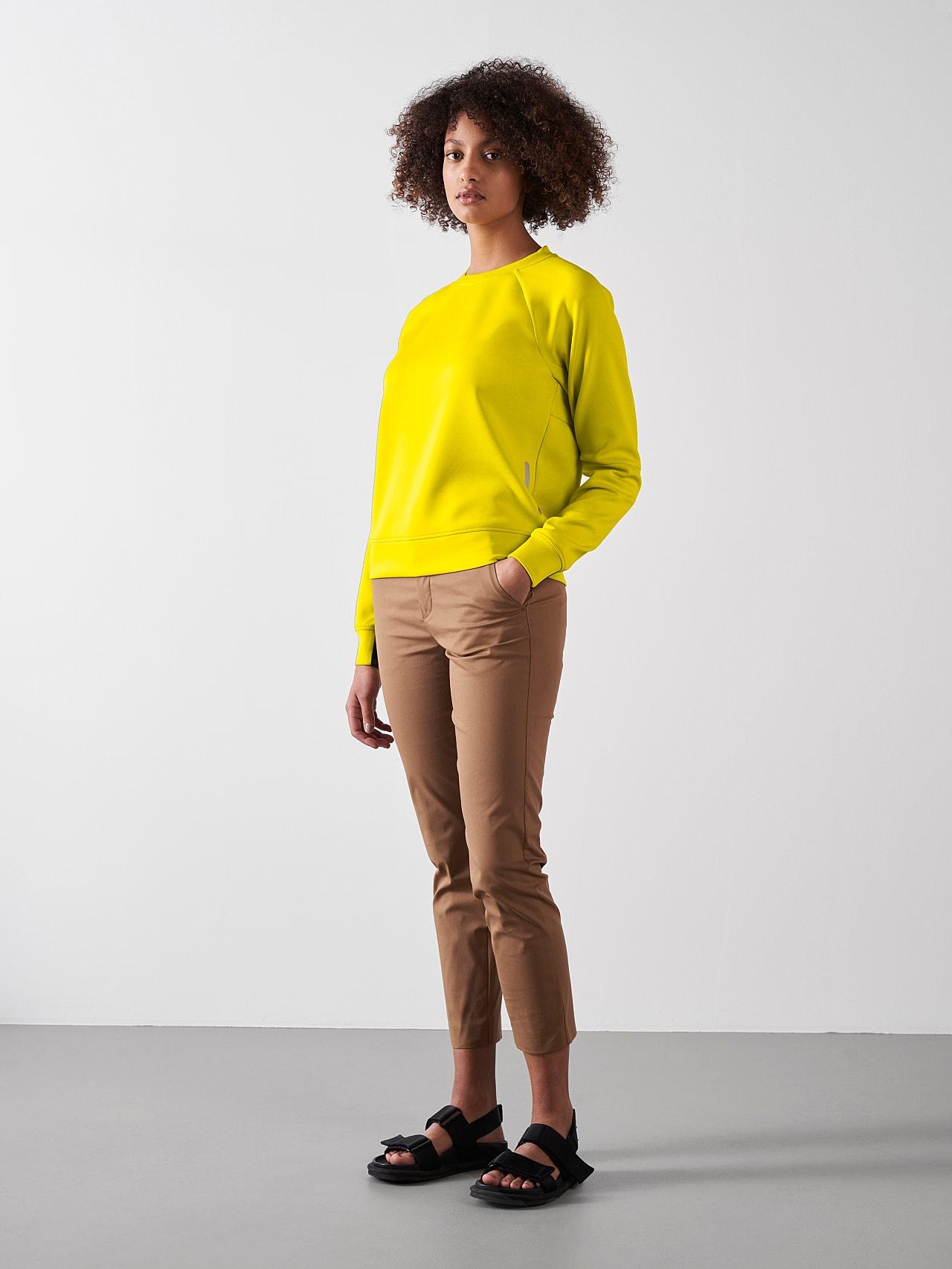 SINOV V1.Y5.01 Crewneck Sweater yellow Front Alpha Tauri