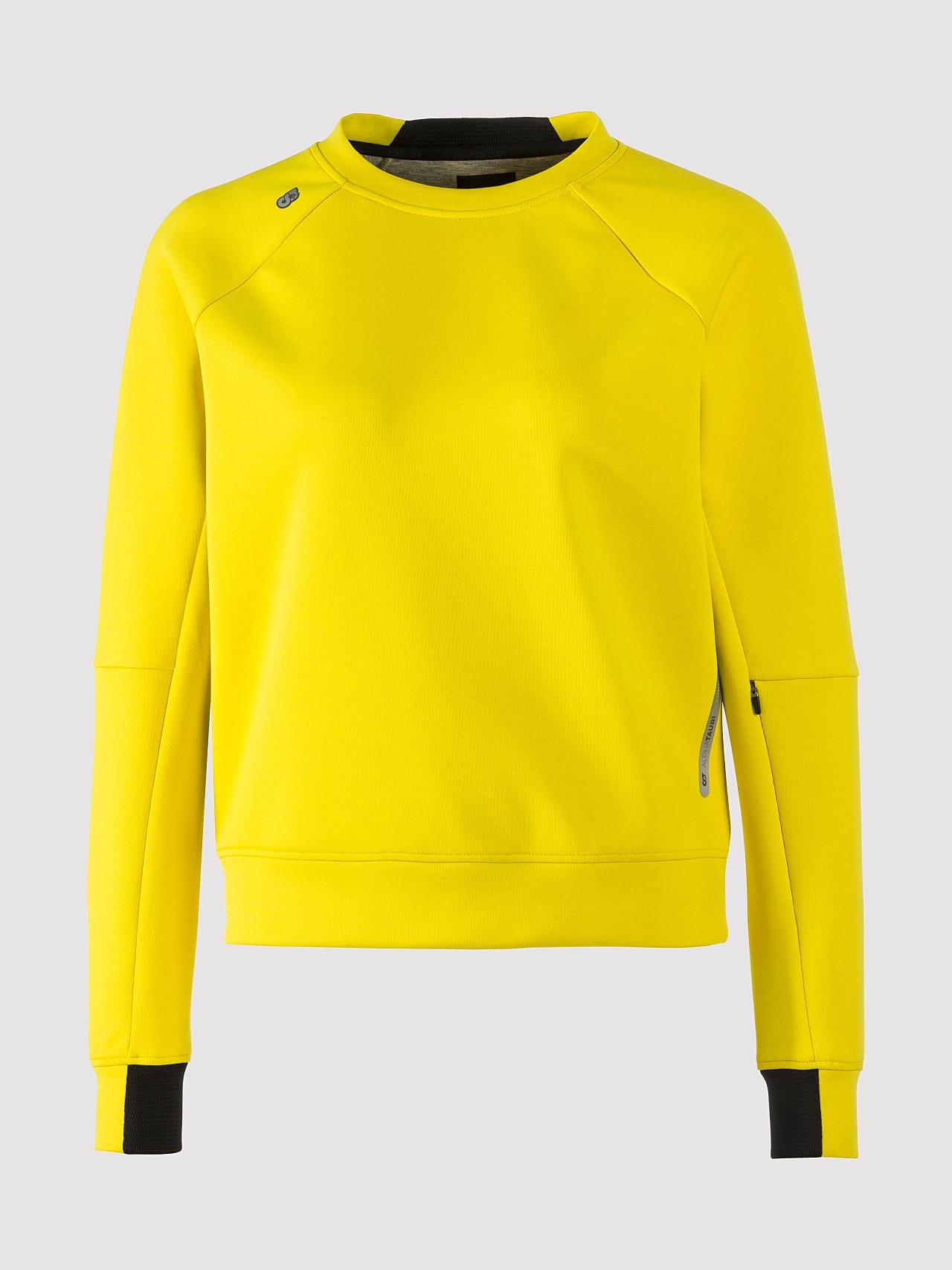 SINOV V1.Y5.01 Crewneck Sweater yellow Back Alpha Tauri