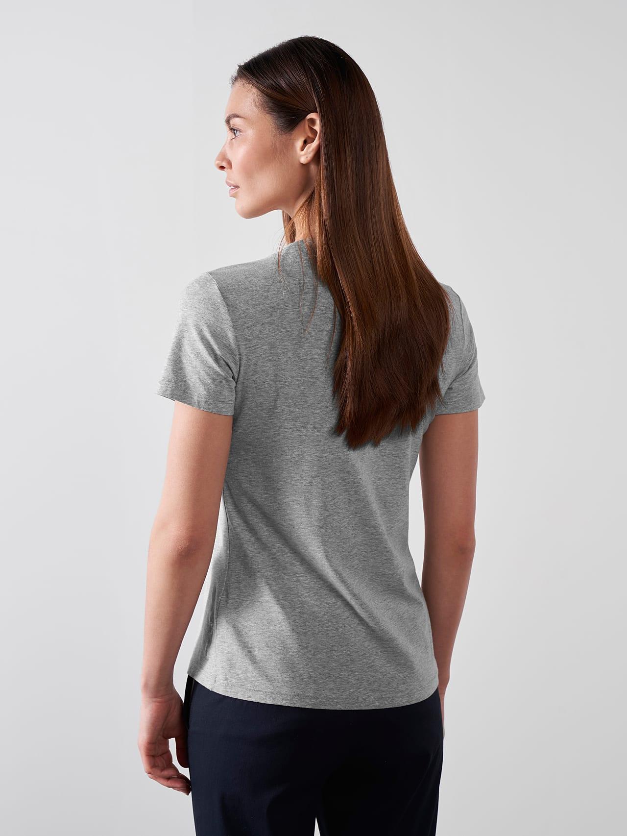 JALP V4.Y5.01 Cotton Logo T-Shirt grey / melange Front Main Alpha Tauri