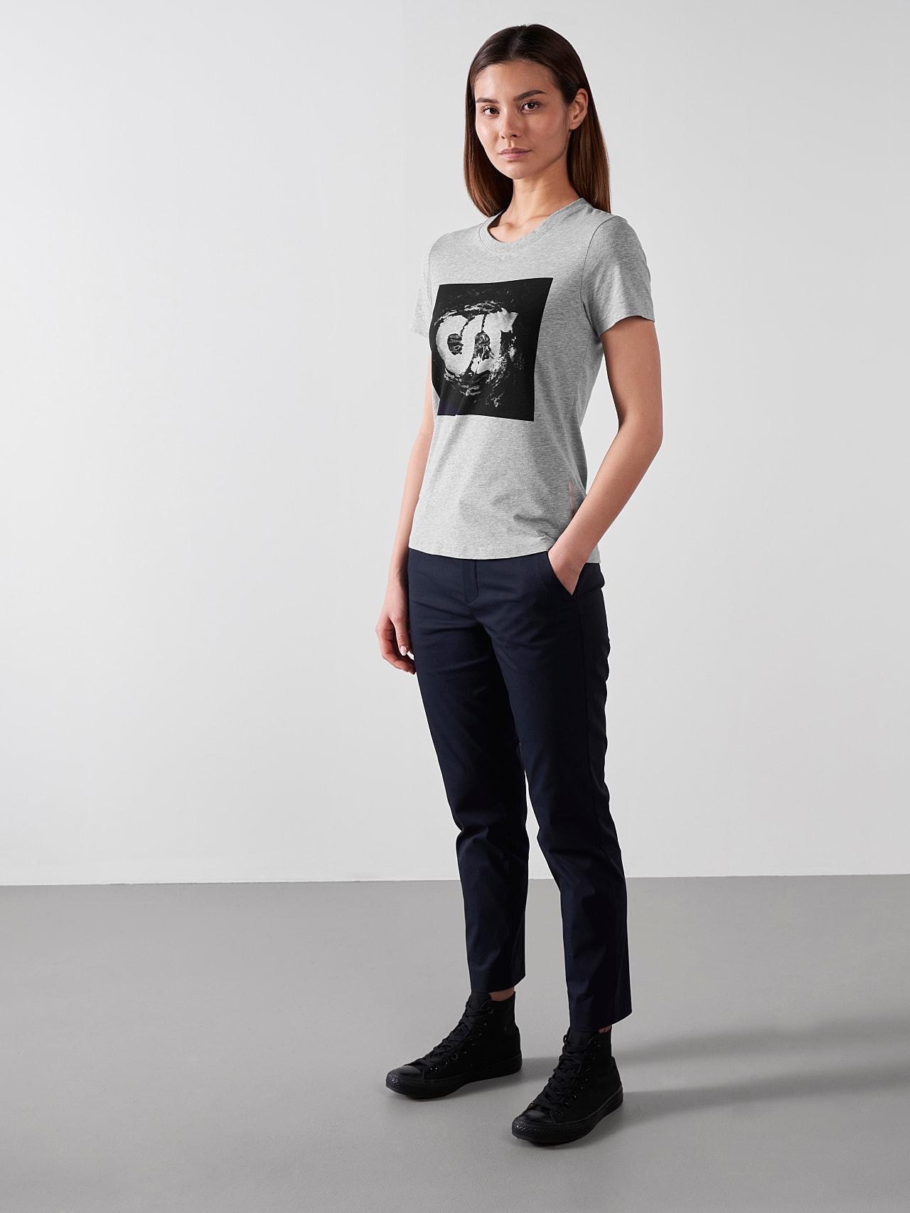 JALP V4.Y5.01 Cotton Logo T-Shirt grey / melange Front Alpha Tauri