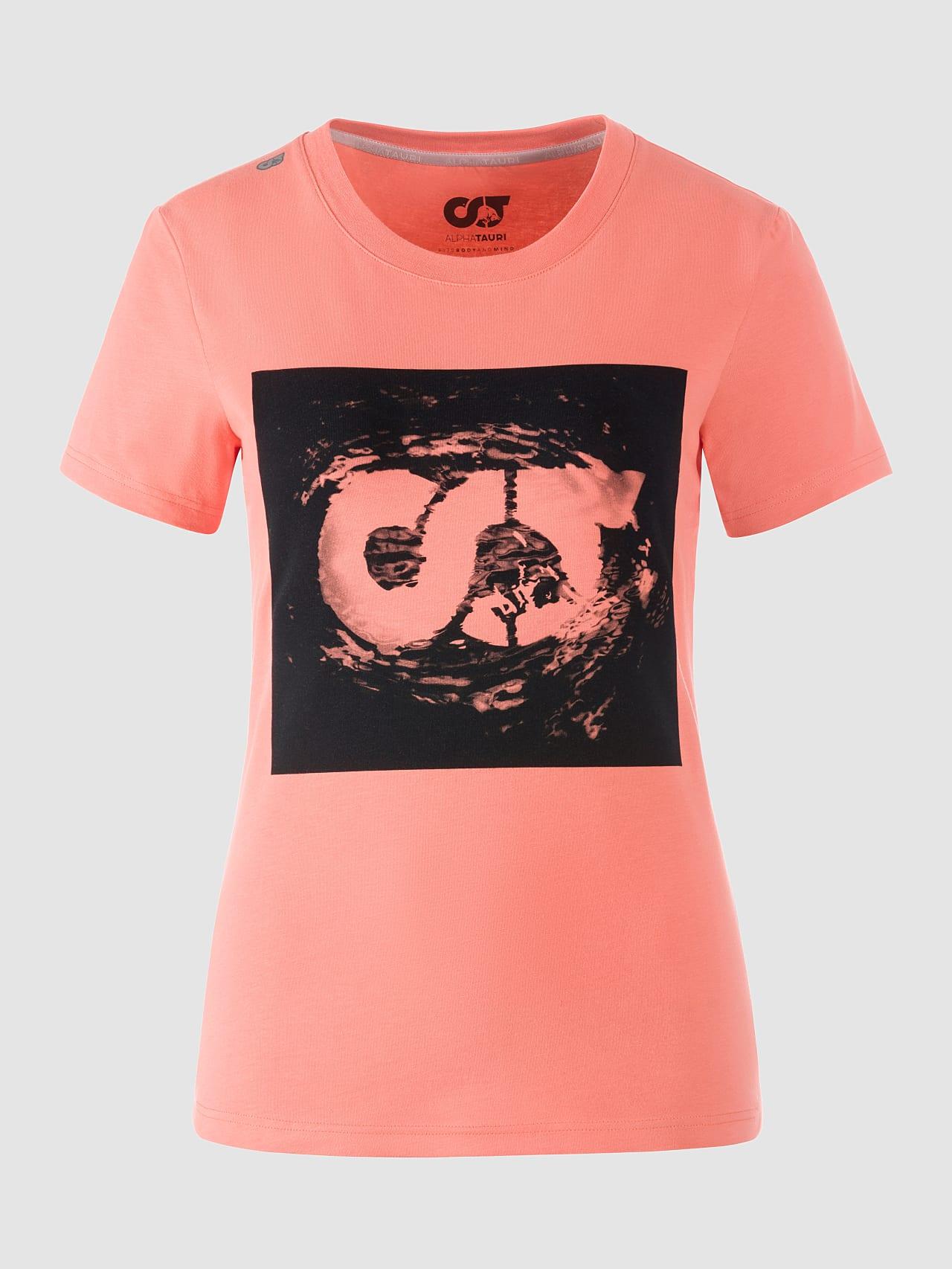 JALP V4.Y5.01 Cotton Logo T-Shirt coral Back Alpha Tauri