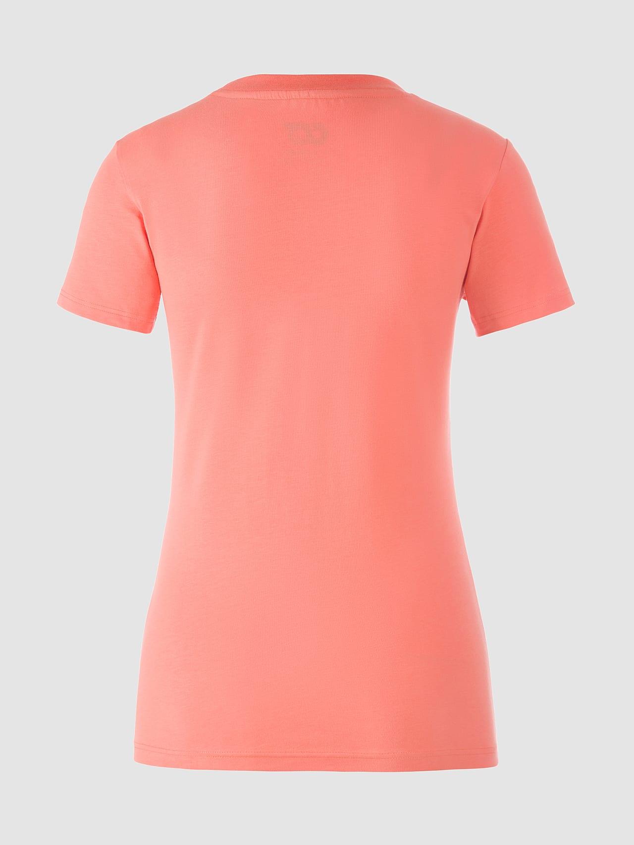 JALP V4.Y5.01 Cotton Logo T-Shirt coral Left Alpha Tauri