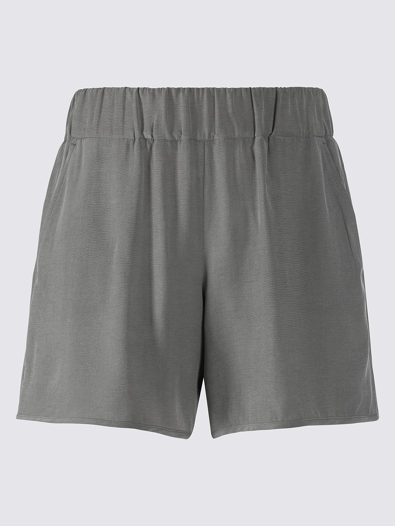 PHORT V1.Y5.01 Relaxed Cupro Shorts Grey Back Alpha Tauri