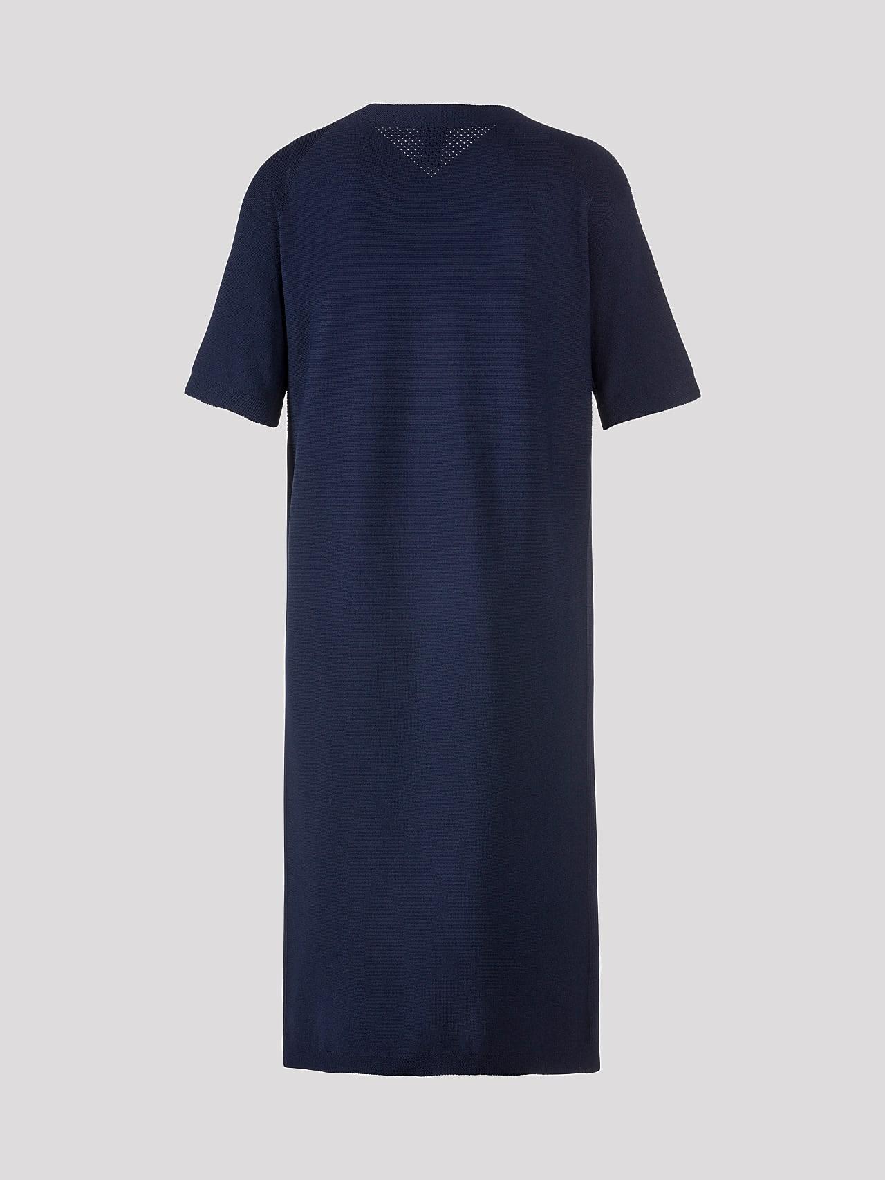 FZORF V1.Y5.01 Seamless Knit Dress navy Left Alpha Tauri