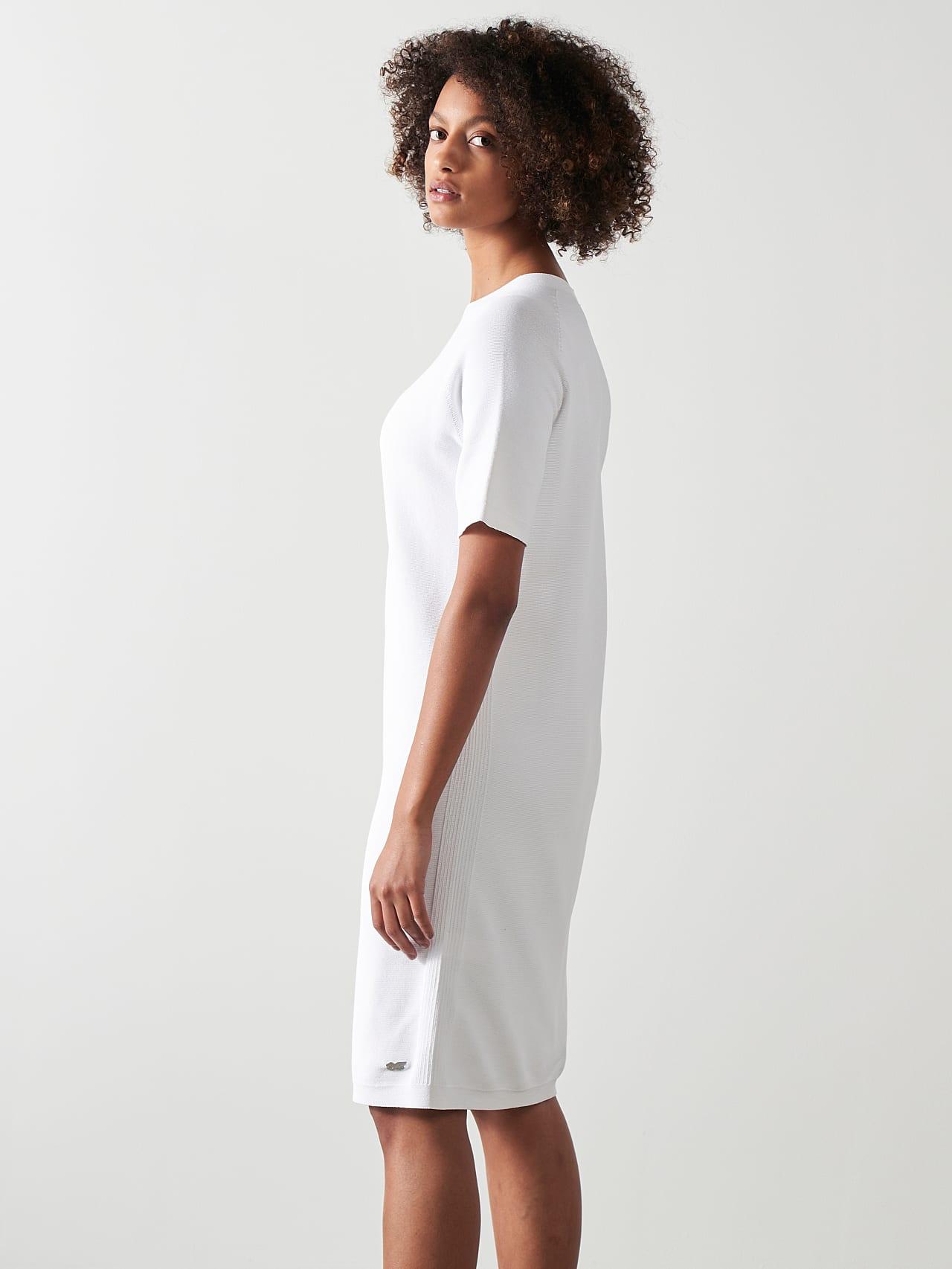 FZORF V1.Y5.01 Seamless Knit Dress white Front Alpha Tauri