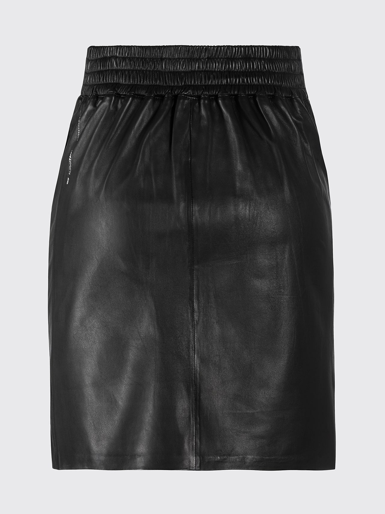 LEXSI V1.Y5.01 Leather Pencil Skirt black Left Alpha Tauri
