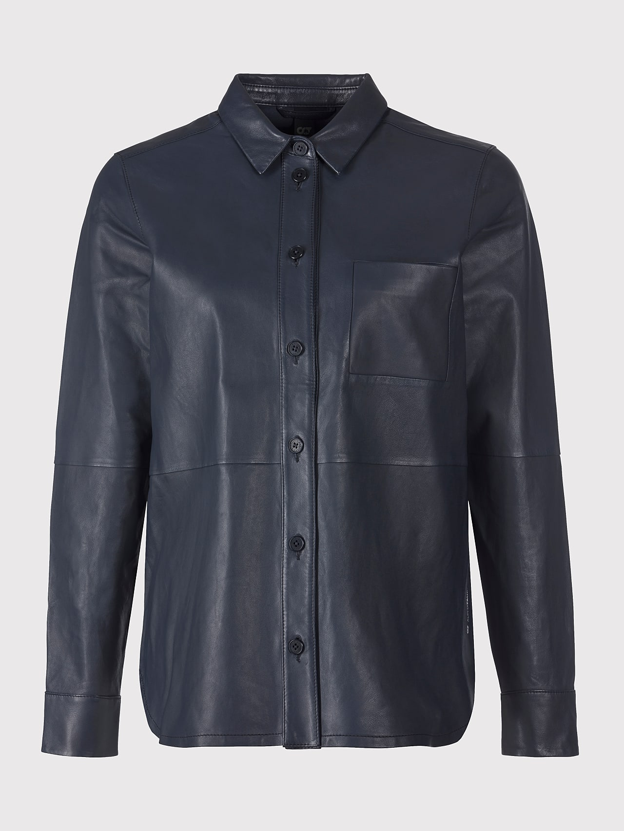 LEORD V1.Y5.01 Leather Shirt navy Back Alpha Tauri