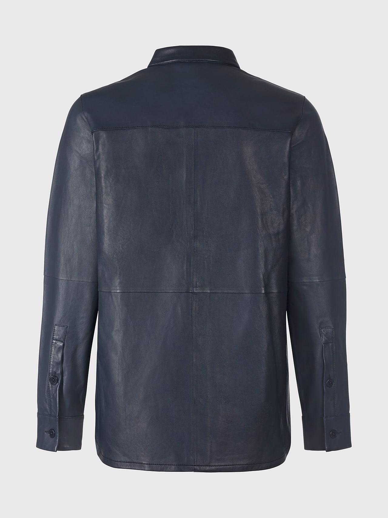 LEORD V1.Y5.01 Leather Shirt navy Left Alpha Tauri
