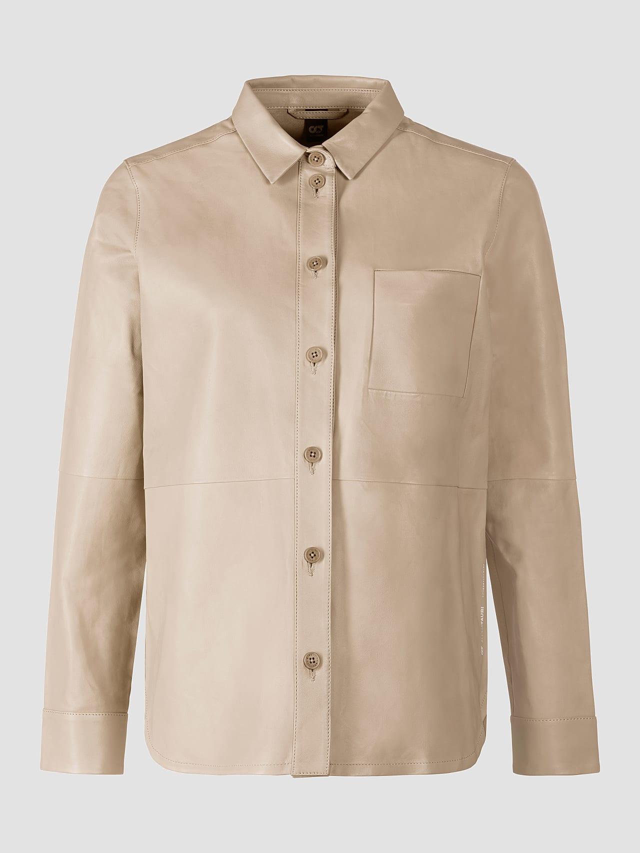 LEORD V1.Y5.01 Leather Shirt Sand Back Alpha Tauri