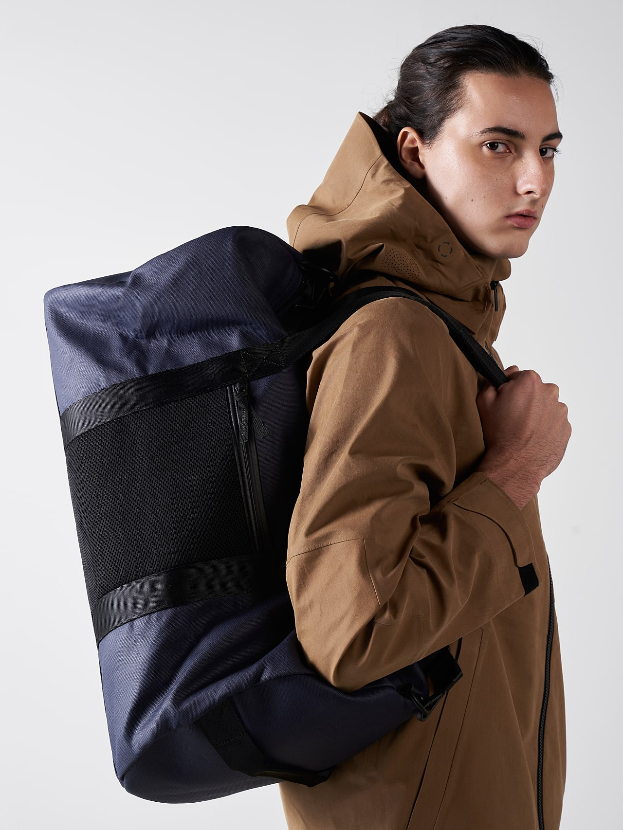 AWEE V3.Y5.01 Water-Resistant Duffle Bag navy Back Alpha Tauri
